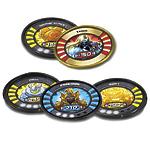 Набор из 5 медальонов в фольге Slingers