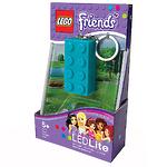 Брелок-фонарик для ключей Lego Friends, цвет лазурный, лиловый, лайм