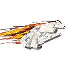 """Пробивной 3D светильник """"StarWars"""" (Звёздные Войны)-Millennium Falcon (Тысячелетний сокол)"""