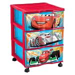 """Детский пластиковый комод на колесиках """"Disney Cars"""" (Тачки) для хранения предметов"""