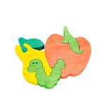 """Развивающая игрушка """"Червячок и фрукты"""" с красками"""