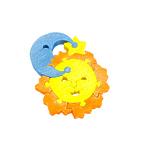 "Развивающая игрушка ""Cолнце и месяц"" с красками"