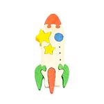 """Развивающая игрушка """"Ракета"""" с красками"""